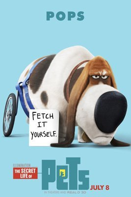 Fangeplus(TM) The Secret Life of Pets POPS Fetch it Yourself Movie Poster Antique Vintage Old Style Decorative Poster Print Wall Coffee Shop Bar Decor Decals 23.6''x15.7''