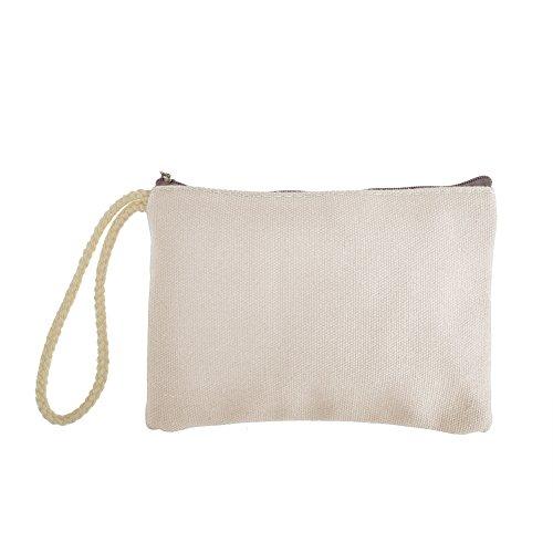Aspire 12PCS Canvas Zipper Pouch, Tool Bag, Party Favor Pouc