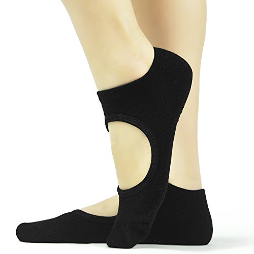 Grippers Pilates Yoga Barre Socks - Elutong 2018 New Arrival Grips Socks Ballet Non Slip Anti Skid with Women by Elutong (Image #1)
