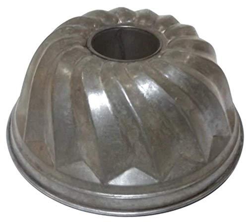 Antique Primitive Tin Spiral Bundt Domed Angel Food Cake Pan