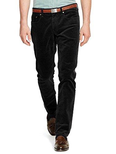 Polo Ralph Lauren Men's Varick Stretch Slim Straight Fit Corduroy Pants 32W x 34L Black