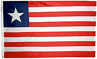 product image for Annin Flagmakers Model 194881 Liberia Flag Nylon SolarGuard NYL-Glo, 5x8 ft, 100% Made in USA to Official United Nations Design Specifications