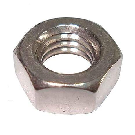 Tuerca hexagonal M10 de acero inoxidable A2, rosca de mano izquierda DIN934, paquete de 2