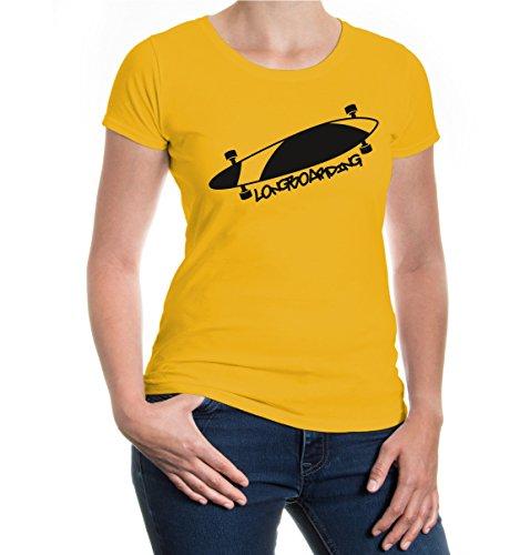 Girlie T-Shirt Longboarding sunflower