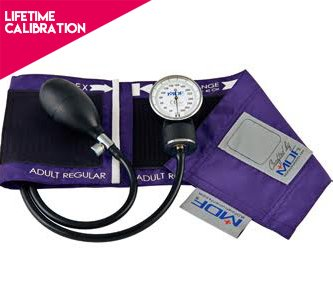 MDF® Calibra Aneroid Sphygmomanometer - Lifetime Calibration Warranty- Blood Pressure Monitor with Adult Sized Cuff Included - Purple
