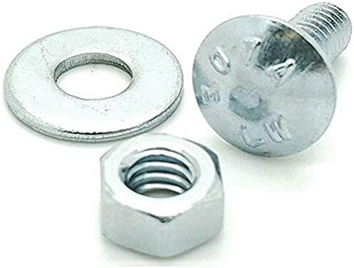 18-8 Carriage Bolts 3//8-16 X 4 Full Thread Square Neck AISI 304 Stainless Steel 5 pcs Round Head