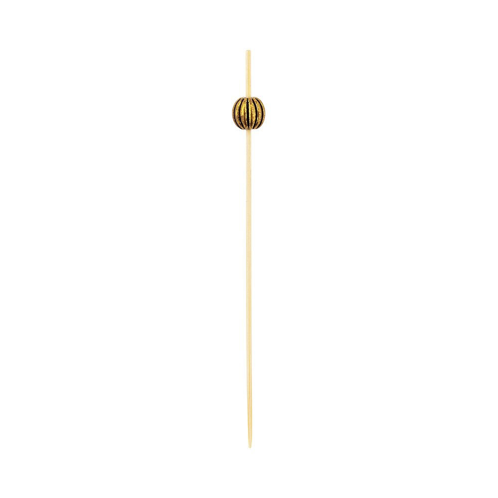 Luxury Gold Metal Beaded Picks - Skewers -  4'' - 1000ct Box - Restaurantware by Restaurantware (Image #3)