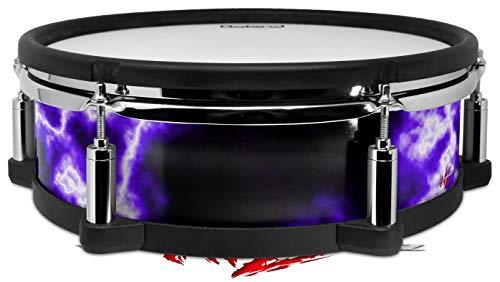 Skin Wrap Compatible with Roland PD-128 Drum Electrify Purple (Drum NOT ()