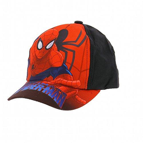 Spiderman - Casquette Spiderman bondissant, protection solaire 30+ - Noir, 52 cm