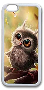iPhone 6 Plus Cases, Baby Owl Custom Protective Soft Rubber TPU White Edge Case Cover for New iPhone 6 Plus 5.5 inch