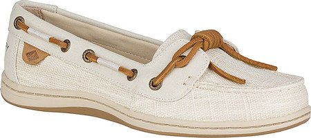 Sperry Women's Barrelfish Heavy Linen Ivory Oxford - Proof Classic Oxford