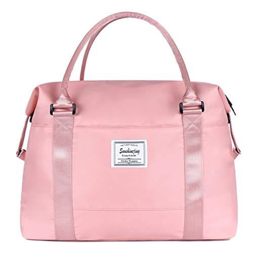 Unisex Large Travel Shoulder Weekender Overnight Bag Handbag Gym Tote Bag with Trolley Sleeve ()
