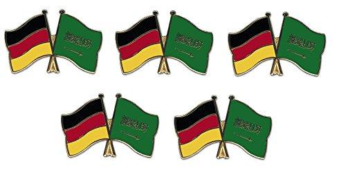 Saudi Arabien Freundschaftspin Yantec Pin Flagge 5er Pack Deutschland