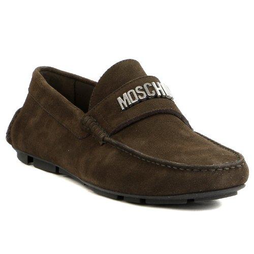 Moschino 56092 Rovesciato Mocassino Scarpe Mocassino - - Uomo Marrone