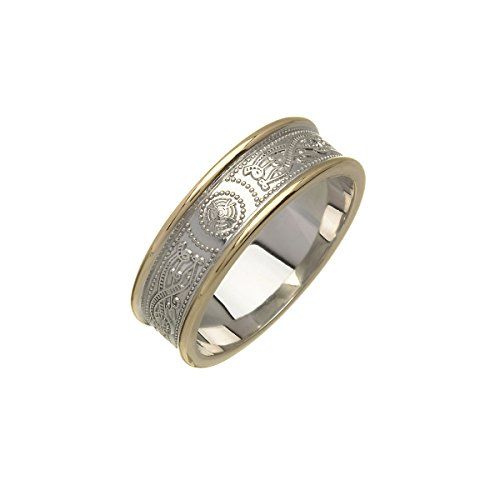 Ladies Wedding Band 2 Tone Ardagh 14K From Ireland
