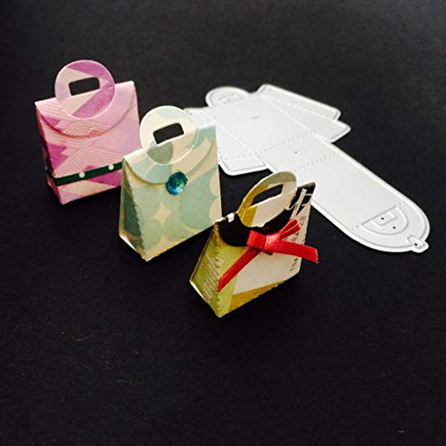 Cutting Dies Christmas, Portable Gift Box Metal Cutting Dies Card Making Scrapbooking Stencils Album Paper Card Craft Embossing DIY Decorative Background]()