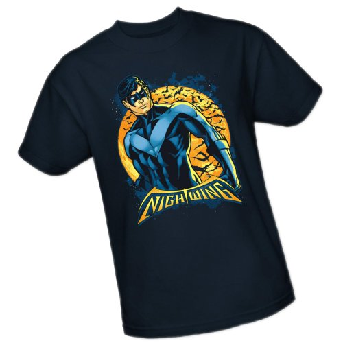 Nightwing Moon -- Batman Adult T-Shirt, X-Large ()