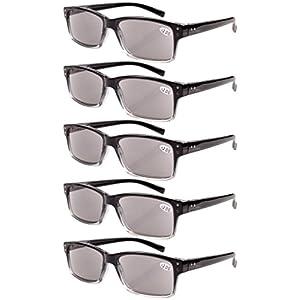 Eyekepper 5-pack Spring Hinges Vintage Reading Glasses Men Sun Readers +4.0
