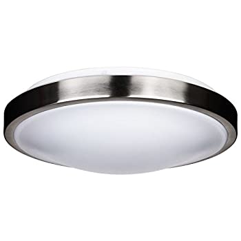 Sunlite LFX/AM/15/BN/E/D/40K 15-watt 120-volt Energy Star Dimmable LED Decorative Band Trim Style Fixture, 12-Inch, Brushed Nickel Finish