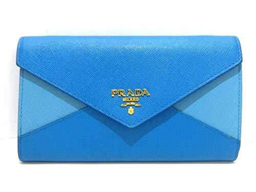 (プラダ)PRADA 財布 ライトブルー×ブルー 【中古】   B07RP6J898