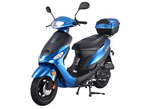 SMART DEALSNOW Brings Brand New 50cc Gas Fully Automatic Street Legal Scooter TaoTao ATM50-A1 - BOLD BLUE by TAO