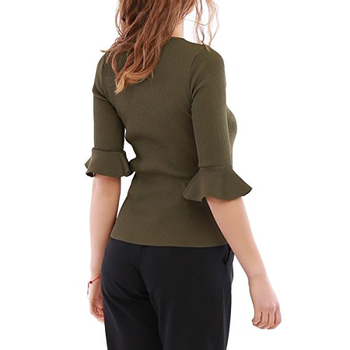 La Modeuse - Camiseta sin mangas - para mujer caqui
