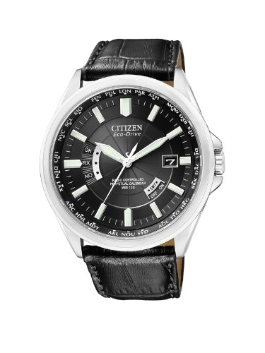 Mens Drive World Eco Timer - Citizen Mens Watch Elegant Evolution 5 World Timer Eco-Drive Radio Watch CB0010-02E