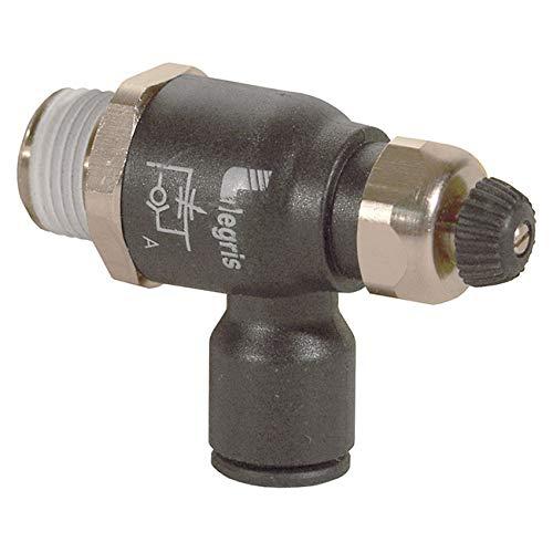 Meter-Out External Screw//Knob 90 Degree Elbow Legris 7660 56 20 Nylon Air Flow Control Valve 1//4 Tube OD x 10-32 UNF Male 1//4 Tube OD x 10-32 UNF Male Parker Legris 76605620