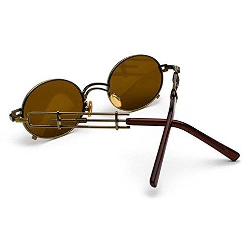 Steampunk Vintage Non Brun ovales lunettes en Classique polarisé Fashion de soleil Bronze métal Keephen 1T5natwqFw