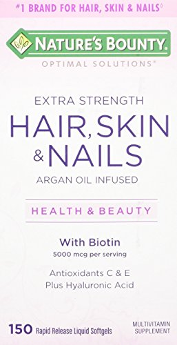 Nature's Bounty Optimal Solutions Hair, Skin & Nails Extra Strength, 150 Softgels - Nature Bounty Skin Hair Nails