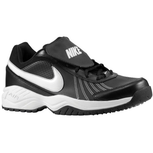 Nike Men's Air Diamond Baseball Training Shoe Black/Metallic Silver/White Size 10.5 M US