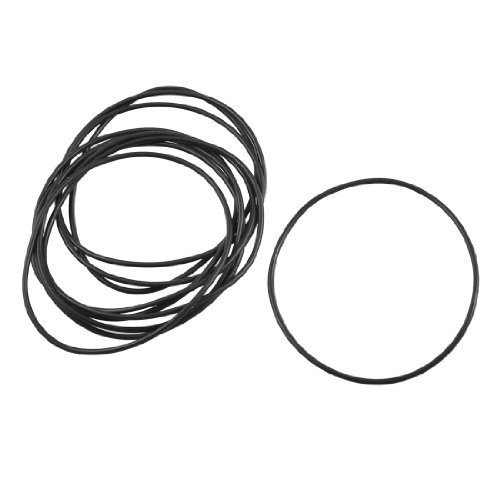 DealMux 10 Pcs Black Rubber Oil Seal O Ring Sealing Gaskets 58mm x 55mm x 1.5mm DLM-B00ARATIS8