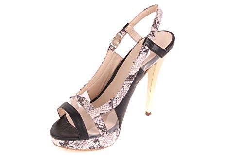 Versace Tacones altos Mujeres sandalias de tiras negro BS02