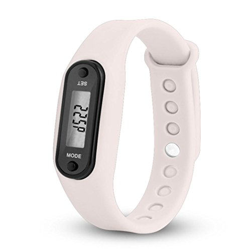 Fullfun Sports Pedometer Calorie Counter Digital LCD Watch Bracelet - Bracelet Watch Lcd