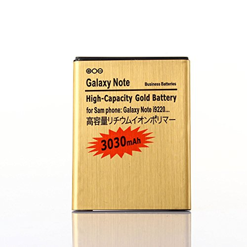 Gold Extended Samsung Galaxy Note SGH-i717 High Capacity Battery EB615268VA EB615268VU For Samsung Galaxy Note SGH-i717 / Samsung Galaxy Note SGH-T879 / Samsung Galaxy Note GT-N7000 / Samsung Galaxy Note GT-I9220 3030 mAh