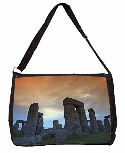 Stonehenge Solstice Sunset Large 16 Black School Laptop Shoulder Bag HyxYPo9t