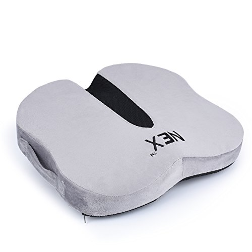 Coccyx Seat Cushion for Office Chair and Car Seat, Orthopedic Coccyx Cushion with Memory Foam for Back Pain, Taibone, Sciatica Relief, Washable Cover