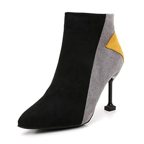 HOESCZS Stiefel Damen Woherren Herbst Und Winter Stiefelies Wies Martin Stiefel Damen Stiefel In Hochhackigen Nackten Stiefel Stiletto Damen Stiefel