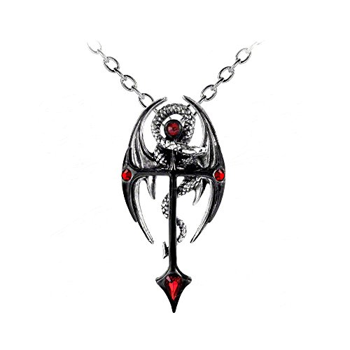 Draconkreuz Dragon Cross Pendant Necklace