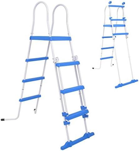 Benkeg Escalera de Seguridad de Piscina elevada 3 peldaños 122 cm: Amazon.es: Hogar