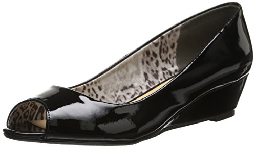 CL by Chinese Laundry Women's Hartley Wedge Pump, Black Patent, 7.5 M - Toe Wedge Low Peep Comfort
