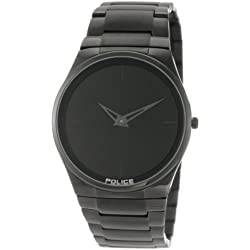 Police Men's PL-12744JSB/02M Horizon Black Dial Black IP Steel Bracelet Watch