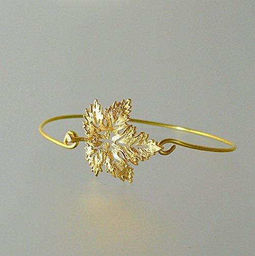 Maple Leaf Bangle Bracelet Medium product image