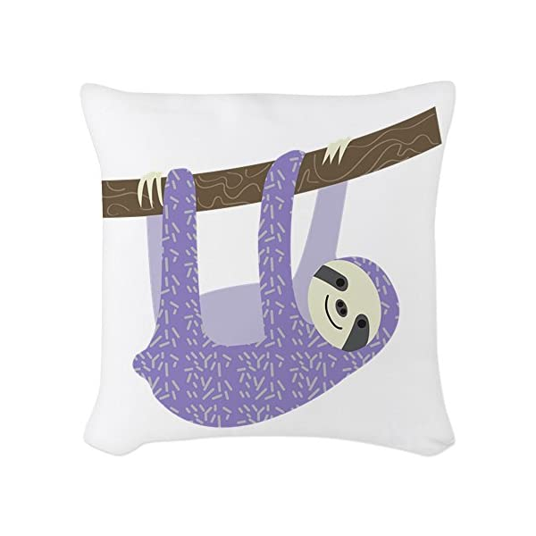 Cafepress - Tree Sloth - Woven Throw Pillow, Decorative Accent Pillow -