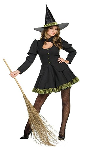 GTH Women's Totally Wicked Witch And Sorceress Theme Halloween Costume, Medium (10-12)