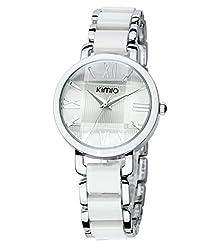Scheppend Ladies Retro Style Analog Quartz Wrist Watch,White