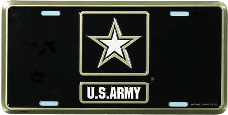 US Army License Plate (New -