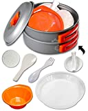 gear4U: Best BPA-Free Camping Cookware 10,13 & 14 Piece Sets – Mess Kit + Free Bonus – Non-Stick Anodized Aluminum – Complete Lightweight Folding Kit for Camping Hiking Backpacking Outdoor Cooking Review