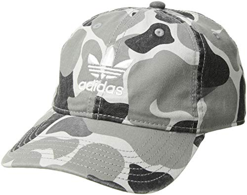 (adidas Men's Originals Relaxed Strapback Cap, forest camo/white, One Size)