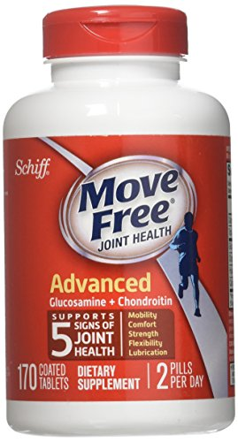 Schiff Move Free Joint Health Dietary Supplement, Advanced Glucosamine Chondroitin 170 Tablets For Sale
